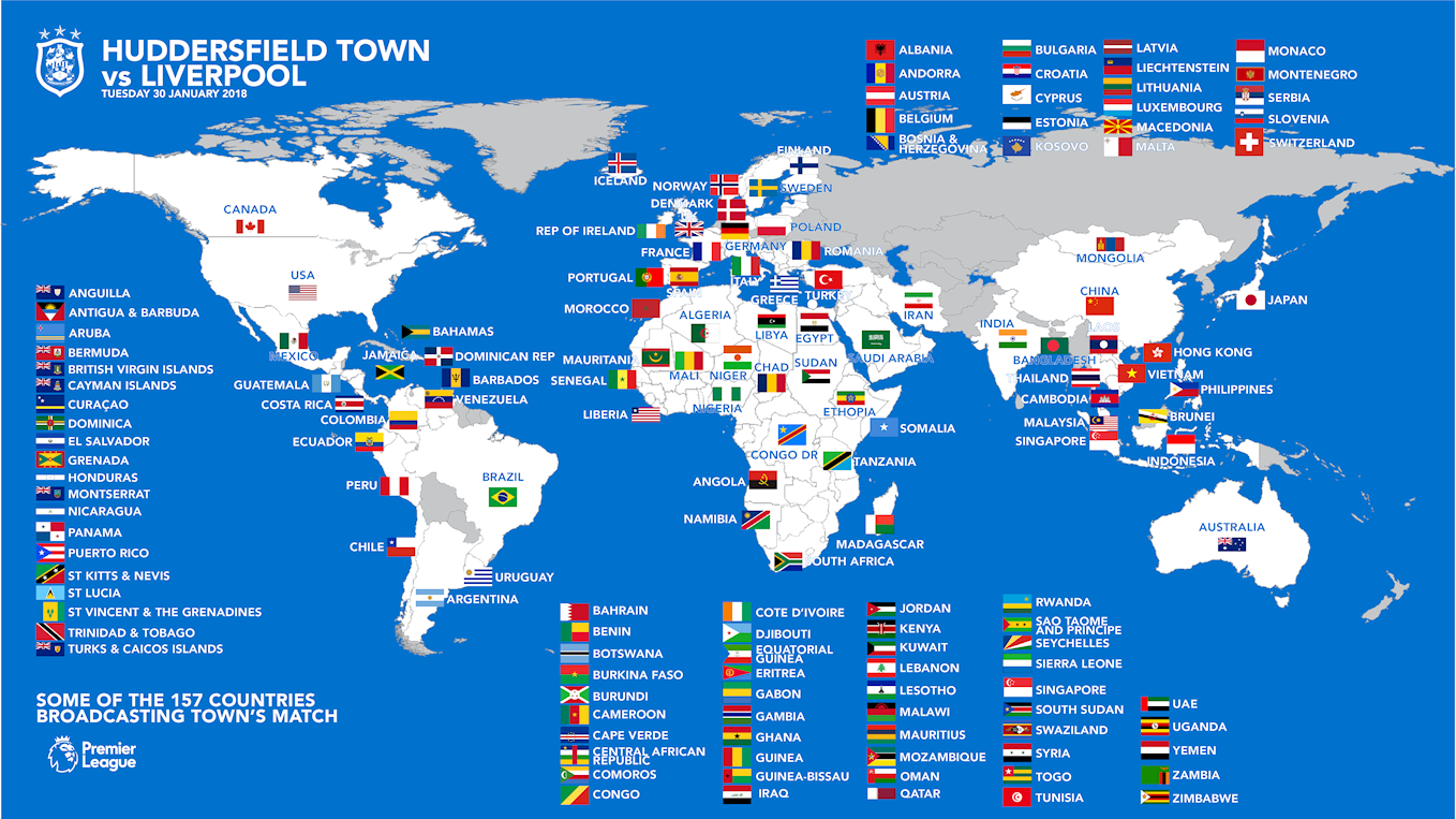 WATCH TOWN vs LIVERPOOL AROUND THE WORLD - News