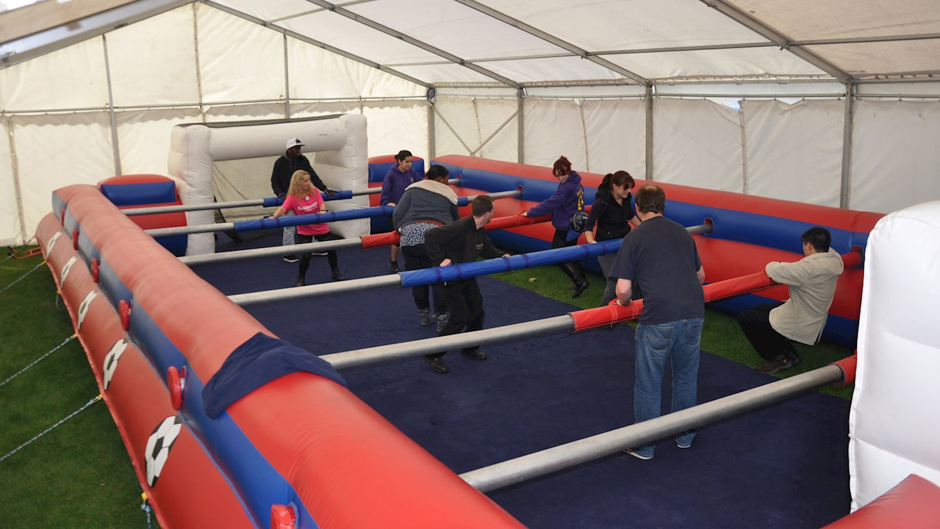 human table football at this saturday s perrys fanzone news huddersfield town. Black Bedroom Furniture Sets. Home Design Ideas